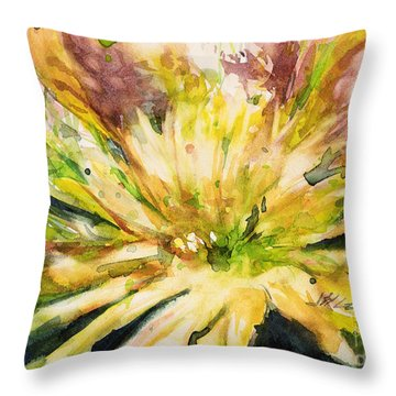 Yellow Mum Throw Pillow
