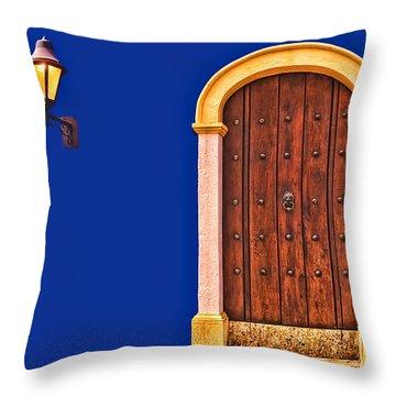 Door And Lamp Throw Pillow