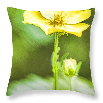 Yellow On Green Throw Pillow