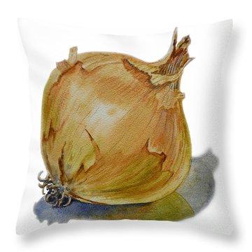 Yellow Onion Throw Pillow by Irina Sztukowski