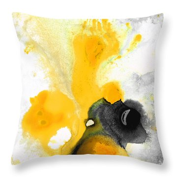 Yellow Orange Abstract Art - The Dreamer - By Sharon Cummings Throw Pillow by Sharon Cummings