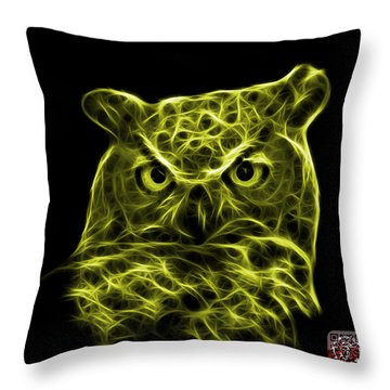 Yellow Owl 4436 - F M Throw Pillow