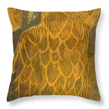 Yellow Owl Throw Pillow