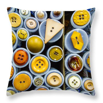 Yellow Palate Throw Pillow