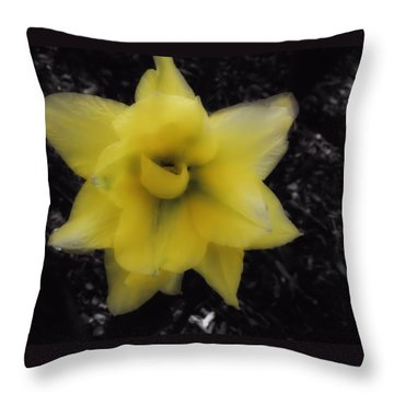 Yellow Parrot Tulip Throw Pillow