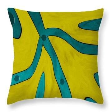 Yellow People Throw Pillow