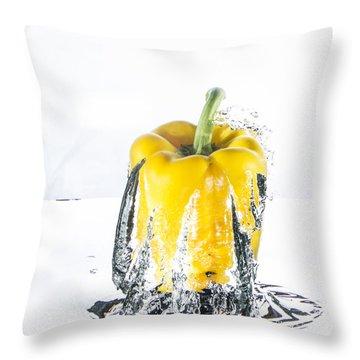 Yellow Pepper Rocket Throw Pillow