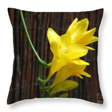 Yellow Petals Throw Pillow