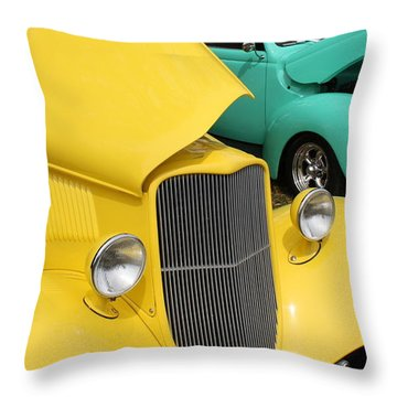 Yellow Pistachio Throw Pillow by Cathy Dee Janes