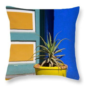 Yellow Pot  Throw Pillow
