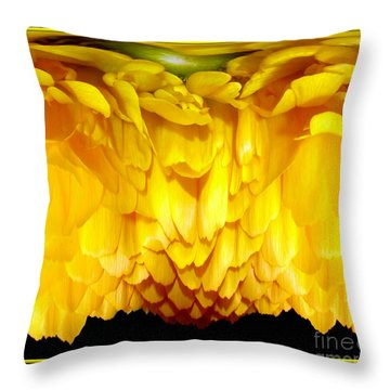 Yellow Ranunculus Abstract Throw Pillow by Rose Santuci-Sofranko