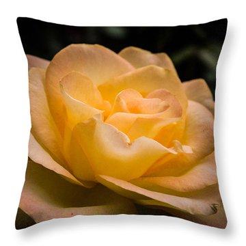 Yellow Ray Of Sunshine Throw Pillow
