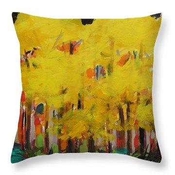 Yellow Refreshment Throw Pillow