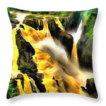 Yellow River Throw Pillow