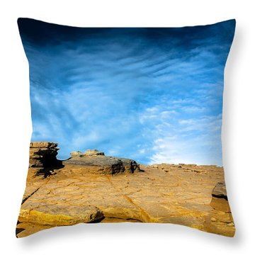 Yellow Rock Throw Pillow by Edgar Laureano