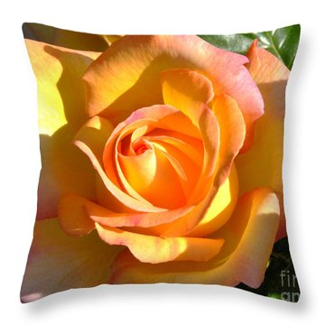 Throw Pillow featuring the photograph Yellow Rose Bud by Debby Pueschel