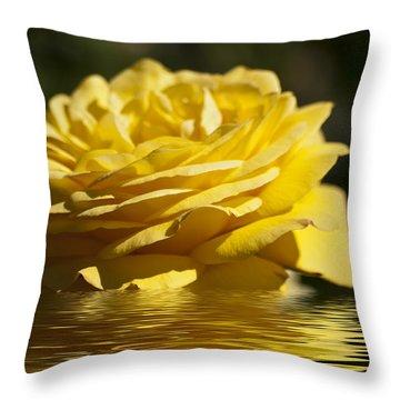 Yellow Rose Flood Throw Pillow