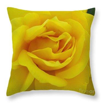 Yellow Rose Throw Pillow