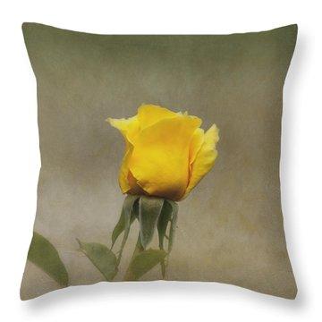 Yellow Rose Throw Pillow by Kim Hojnacki
