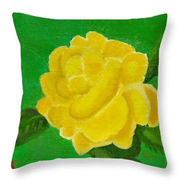 Yellow Rose Of Beta Sigma Phi Throw Pillow