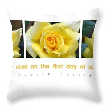 Yellow Rose On The First Day Of Summer Throw Pillow