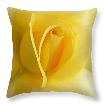 Yellow Rose Portrait Throw Pillow