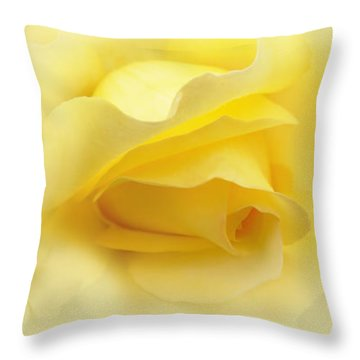 Yellow Roses Triptych Panel Throw Pillow by Jennie Marie Schell