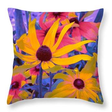 Fantasy Garden - Rudbeckia Throw Pillow
