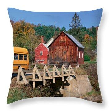 School Buses Throw Pillows