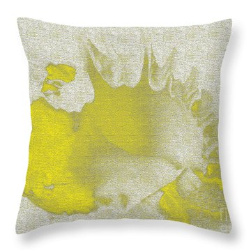 Yellow Shell Throw Pillow by Carol Lynch