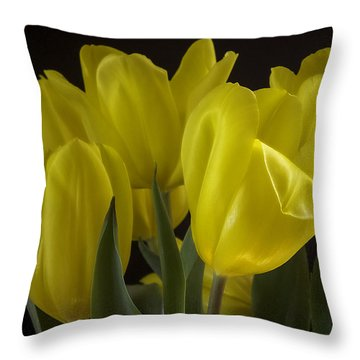 Throw Pillow featuring the photograph Yellow Silk by Lucinda Walter