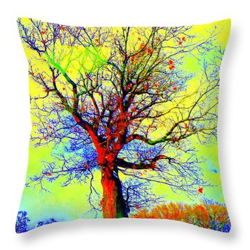 Throw Pillow featuring the photograph Yellow Sky by Jodie Marie Anne Richardson Traugott          aka jm-ART