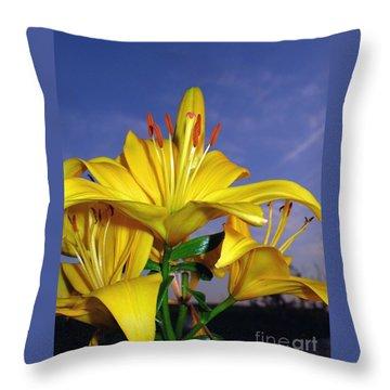 Yellow Spring  Throw Pillow
