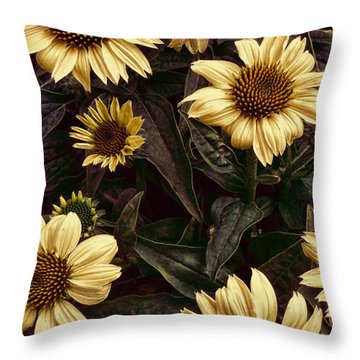Yellow Sombrero Coneflower Throw Pillow