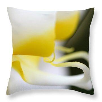 Yellow Splash Throw Pillow