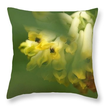 Throw Pillow featuring the photograph Yellow Spring by Inge Riis McDonald