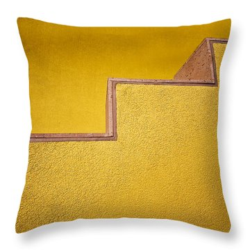 Yellow Steps Throw Pillow by Melinda Ledsome