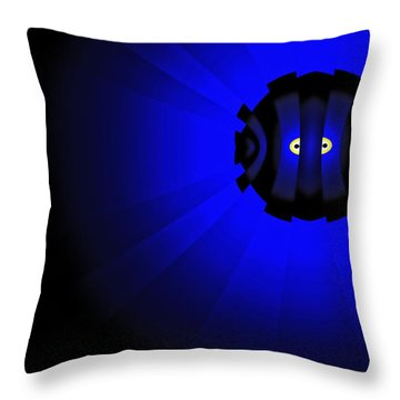 Yellow Submariner Throw Pillow by GJ Blackman