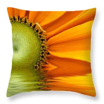 Yellow Sunflower Sunrise Throw Pillow