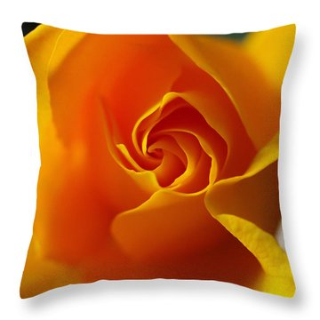 Throw Pillow featuring the photograph Yellow Swirl by Joe Schofield