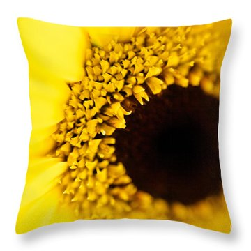 Yellow Throw Pillow by T Lang