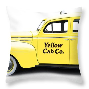 Yellow Taxi Cab Throw Pillow