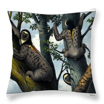Yellow Throated Sloth Throw Pillow by Splendid Art Prints