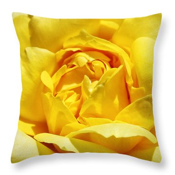Yellow Tourmaline Rose Palm Springs Throw Pillow by William Dey