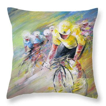 Yellow Triumph Throw Pillow