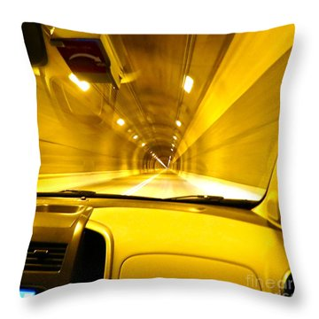 Yellow Tubes Throw Pillow