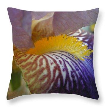 Yellow Tuft Throw Pillow by Cheryl Hoyle