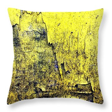 Yellow Wall 2 Throw Pillow by Jason Michael Roust