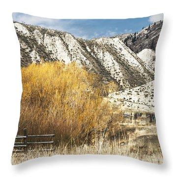 Yellow Willow Throw Pillow