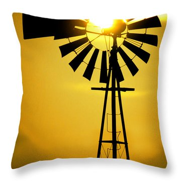 Yellow Wind Throw Pillow